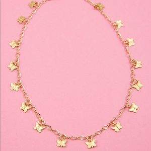 Frasier sterling butterfly choker necklace